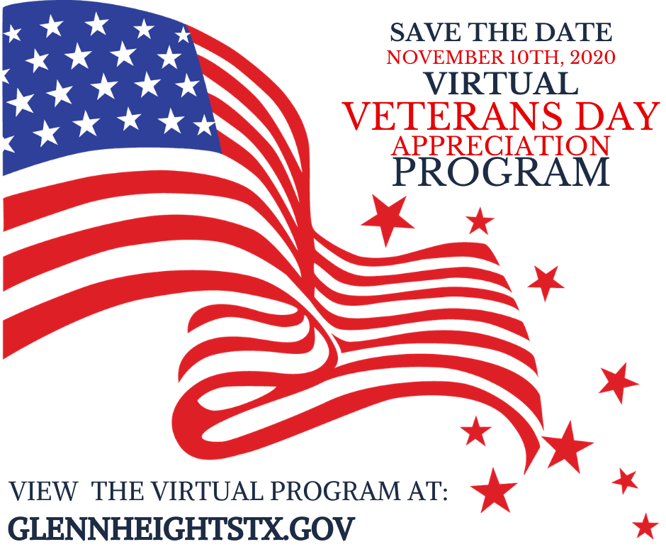 City of Glenn Heights Virtual Veterans Day 2020 Advertisement