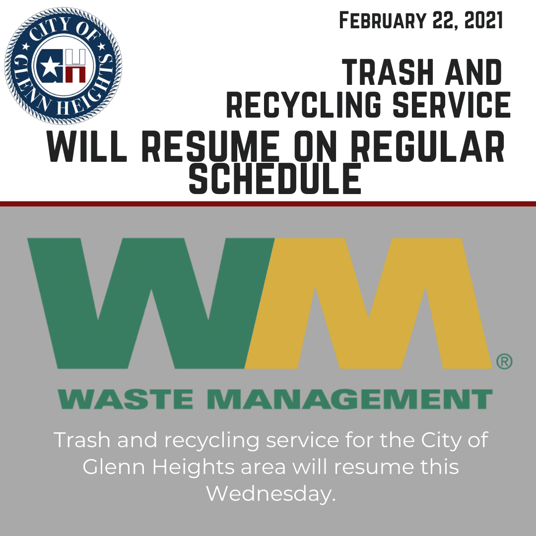Waste Management Resuming Service