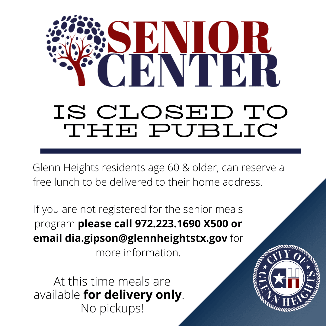 Senior Center Closed- Dia Gipson contact