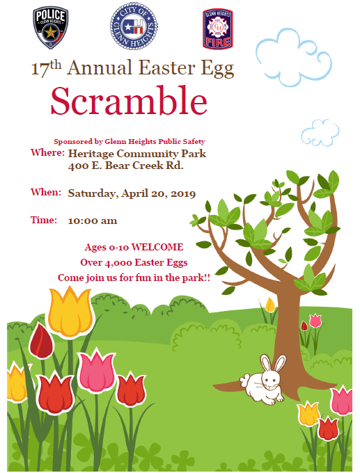 2019 Easter Egg Scramble Flyer (JPG) Opens in new window